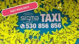 Bądź Widoczny na drodze !!!!!! Sigma Taxi Kołobrzeg rozdaje odblaski.