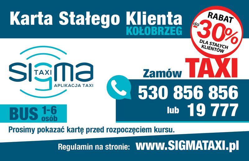 Karta Stałego Klienta Sigma Taxi Kołobrzeg